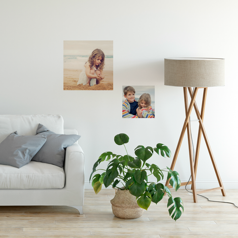 Wall decal squares - Using your own photos
