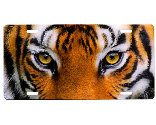 Tiger Eyes License Plate Onestopairbrushshop