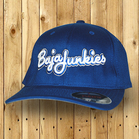 Baja Junkies script hat royal