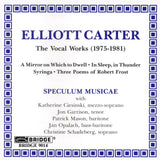 The Music of Elliott Carter, Vol. 1 <BR> BRIDGE 9014
