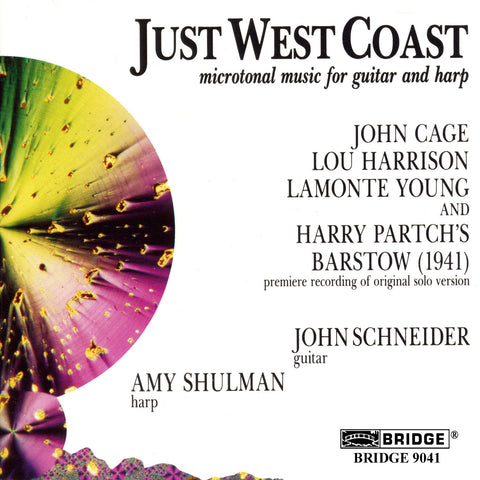 Just West Coast <br> Microtonal music for guitar and harp <BR> BRIDGE 9041