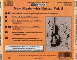 New Music with Guitar, Vol. 5 <br> David Starobin, guitar <BR> BRIDGE 9042
