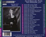 David Rakowski: Piano Etudes, Vol. 1 <BR> BRIDGE 9121