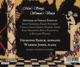 Men's Songs, Women's Voices <br> Georgine Resick, soprano <BR> BRIDGE 9152