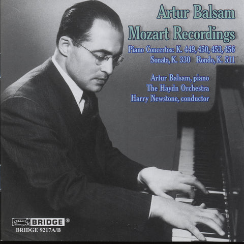 Artur Balsam: Mozart Recordings <BR> BRIDGE 9217A/B