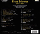 Songs of Franz Schreker <BR> BRIDGE 9259