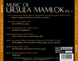 Music of Ursula Mamlok, Vol. 1 <BR> BRIDGE 9291