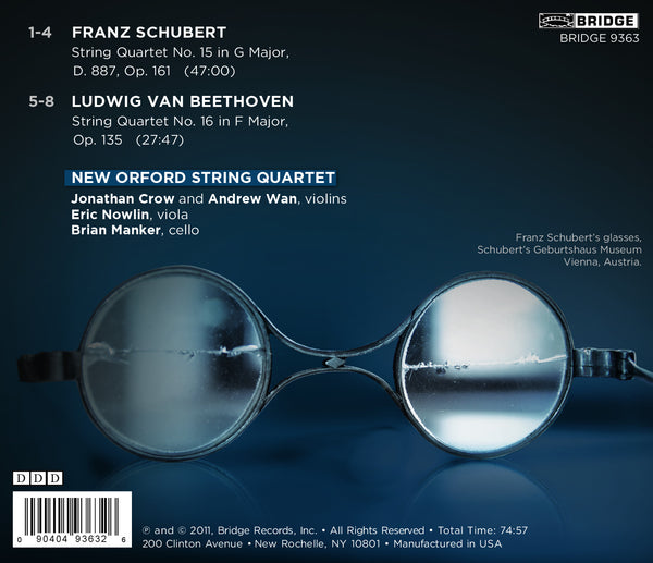 New Orford String Quartet: Music of Schubert and Beethoven BRIDGE 9363