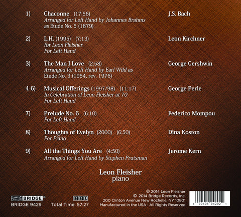 Leon Fleisher: All the Things You Are BRIDGE 9429