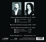 Convergences; Barbara Westphal, viola, Christian Ruvolo, piano <BR> BRIDGE 9442