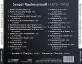 Rachmaninoff - Complete Music & Transcriptions for Violin & Piano