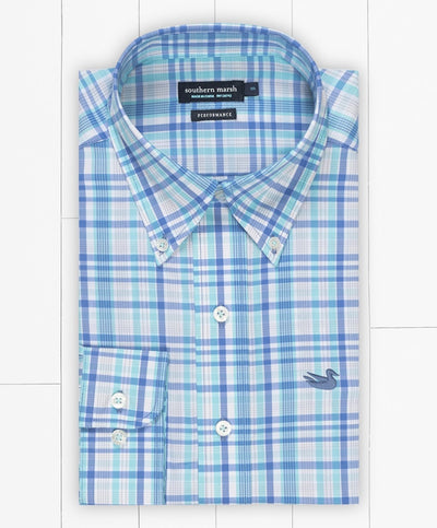 Southern Marsh - Nassau Performance Plaid Dress Shirt