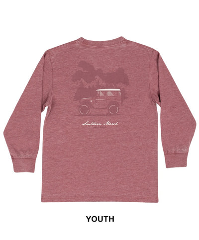 Southern Marsh - Youth Seawash Long Sleeve Tee - Offroad