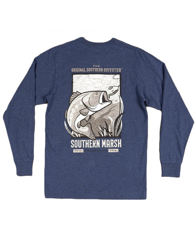 Southern Marsh - Vistas Bass Long Sleeve Tee