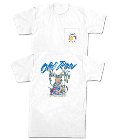 Old Row - Beach Party Buck Pocket Tee