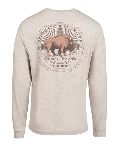 Southern Shirt Co - Buffalo Nickel Long Sleeve Tee