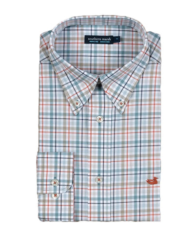 Southern Marsh - Calhoun Check Long Sleeve Dress Shirt
