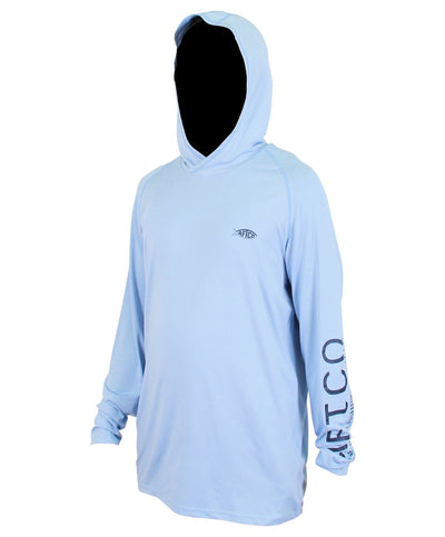 Aftco - Samurai Heathered LS Hooded Shirt
