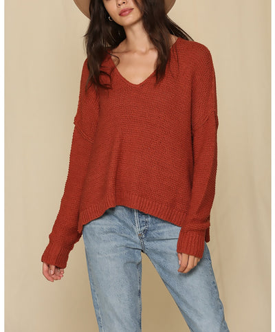 Take Your Time V-Neck Sweater