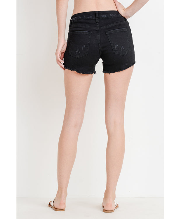 Just USA - Mid Rise Super Destroyed Shorts