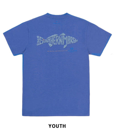 Southern Marsh - Youth Wildlife Words - Redfish Tee