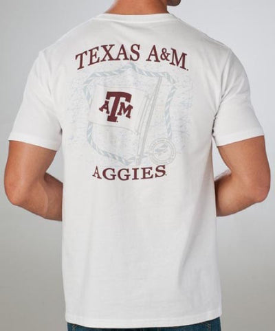 Southern Tide - Collegiate Flag T-Shirt Texas A&M White Back