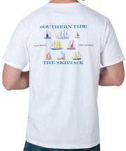 Southern Tide - Sailboat T-Shirt White Back