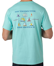 Southern Tide - Sailboat T-Shirt Aqua Back