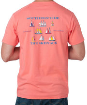 Southern Tide - Sailboat T-Shirt Georgia Peach Back
