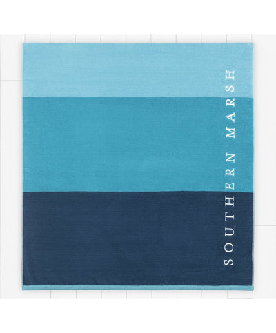 Southern Marsh - Beach Towel - Horizon Stripe