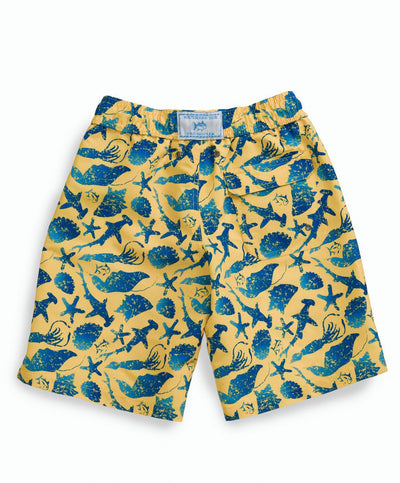 Southern Tide - Boys Ocean Batik Swim Trunk