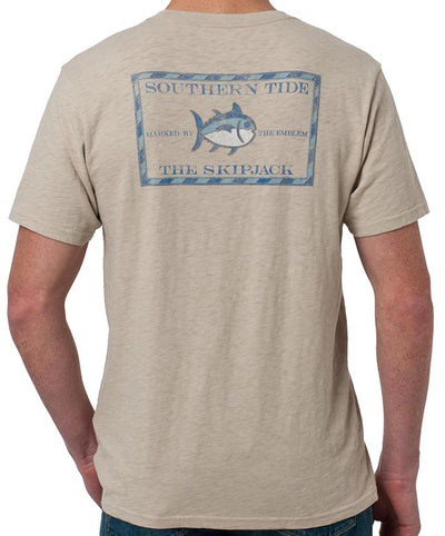 Southern Tide - Original Skipjack Slub T-Shirt Cottonwood Back