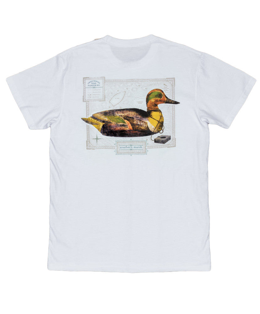 Southern Marsh - Vintage Decoy - Green Winged Teal Tee
