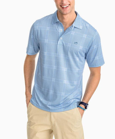 Southern Tide - Marsh Plaid Perf Polo