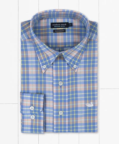 Southern Marsh - Bluefish Performance Plaid Dress Shirt