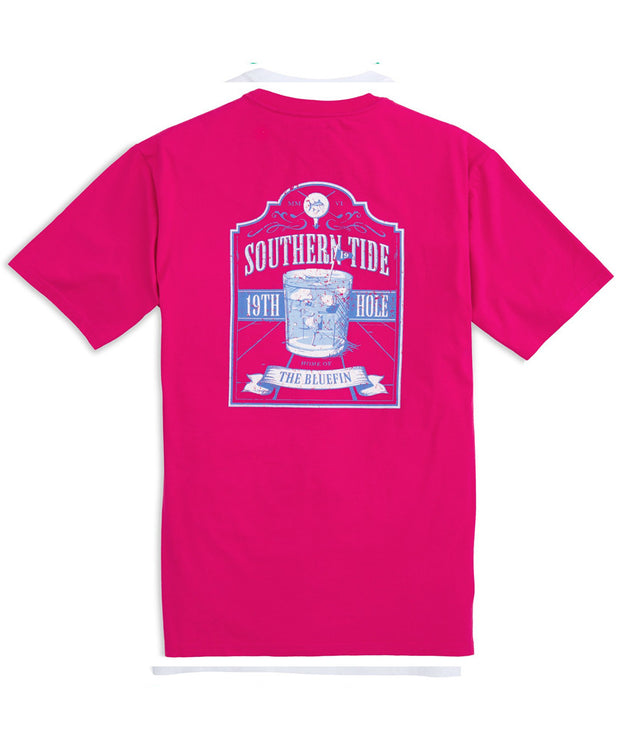 Southern Tide - 19th Hole T-Shirt - Dark Pink