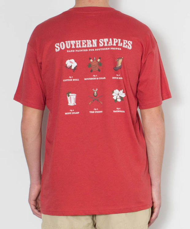 Southern Proper - Southern Staples T-Shirt Red Back