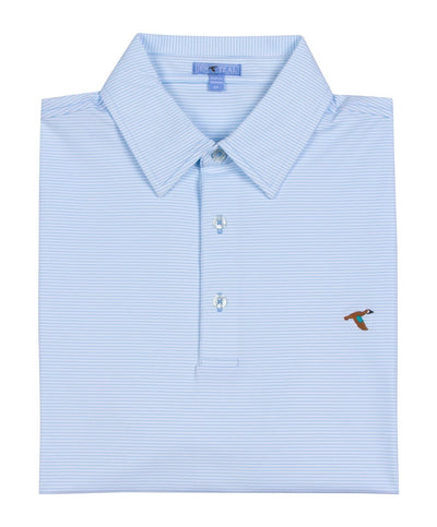 GenTeal - Cay Stripe Performance Polo