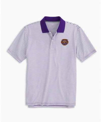 Southern Tide - LSU Tigers National Champions Pique Striped Polo