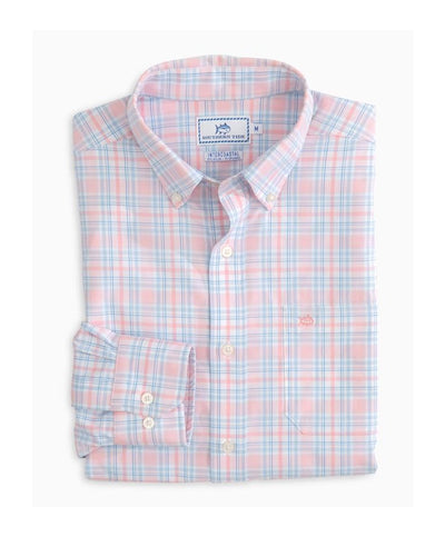 Southern Tide - Oyster Rake Plaid Intercoastal Perf L/S Shirt