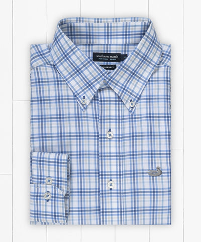 Southern Marsh - Putnam Performance Windowpane Dress Shirt