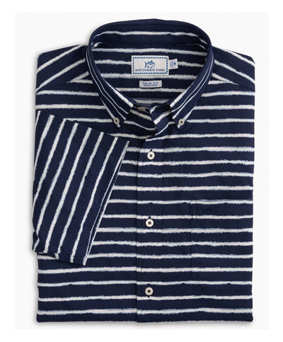 Southern Tide - Pier Stripe Short Sleeve Shirt