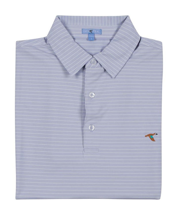 GenTeal - Bay Stripe Performance Polo - P6