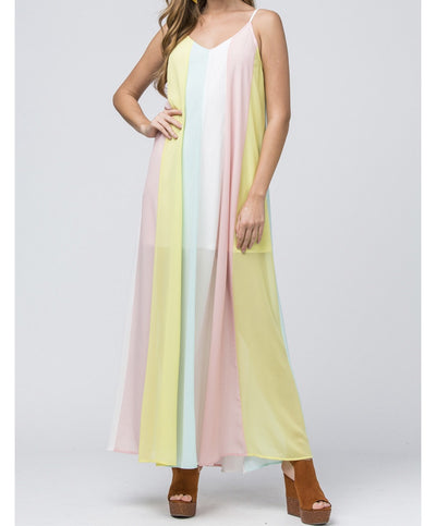 Living The Dream Rainbow Maxi Dress