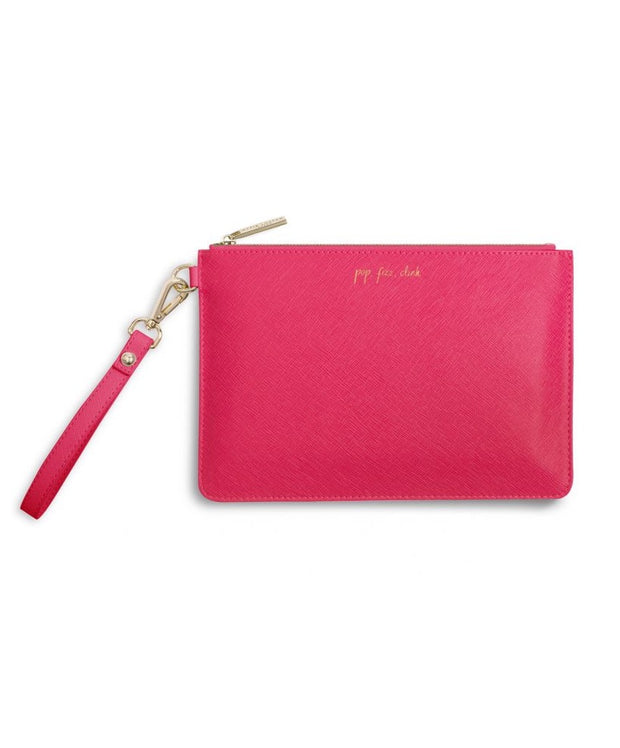 Katie Loxton - Secret Message Pouch - Pop Fizz Clink/It's Time To Drink!