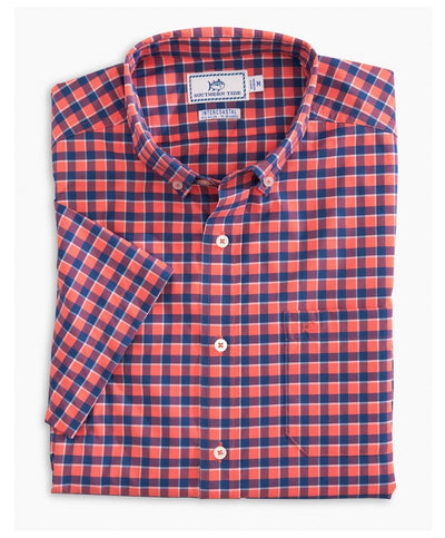 Southern Tide - Gunwale Check Intercoastal Short Sleeve Sport Shirt