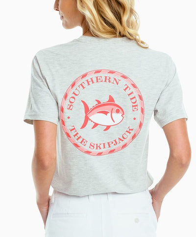 Southern Tide - Circle Skipjack Heathered Tee