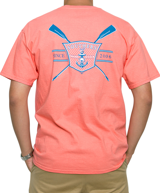 Southern Shirt Co. - Yacht Club Short Sleeve Tee - Pink Salmon