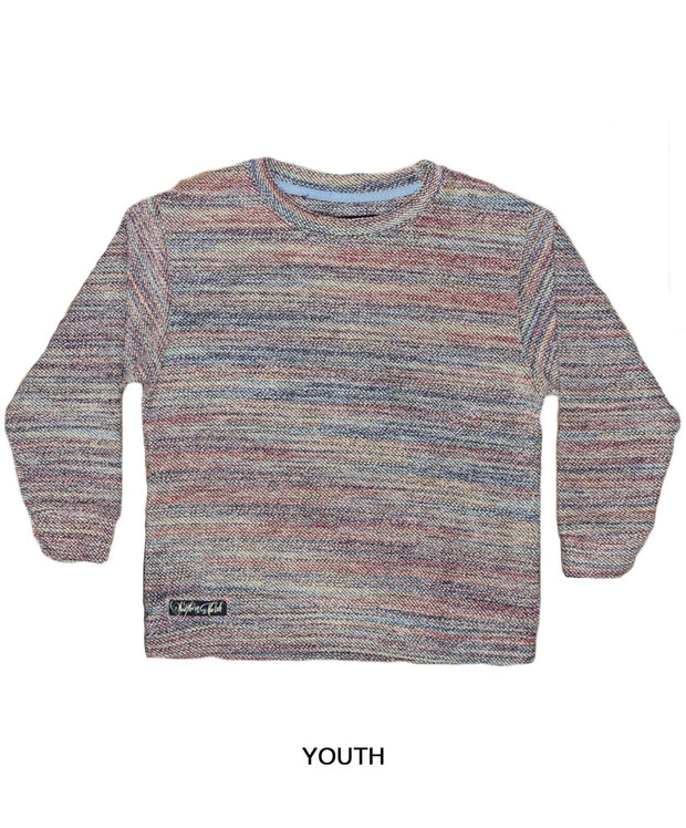 Southern Marsh - Youth Sunday Morning Sweater - Rainbow