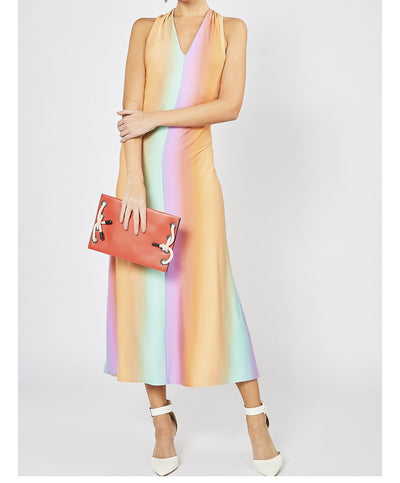 Afternoon Delight Ombre Halter Dress
